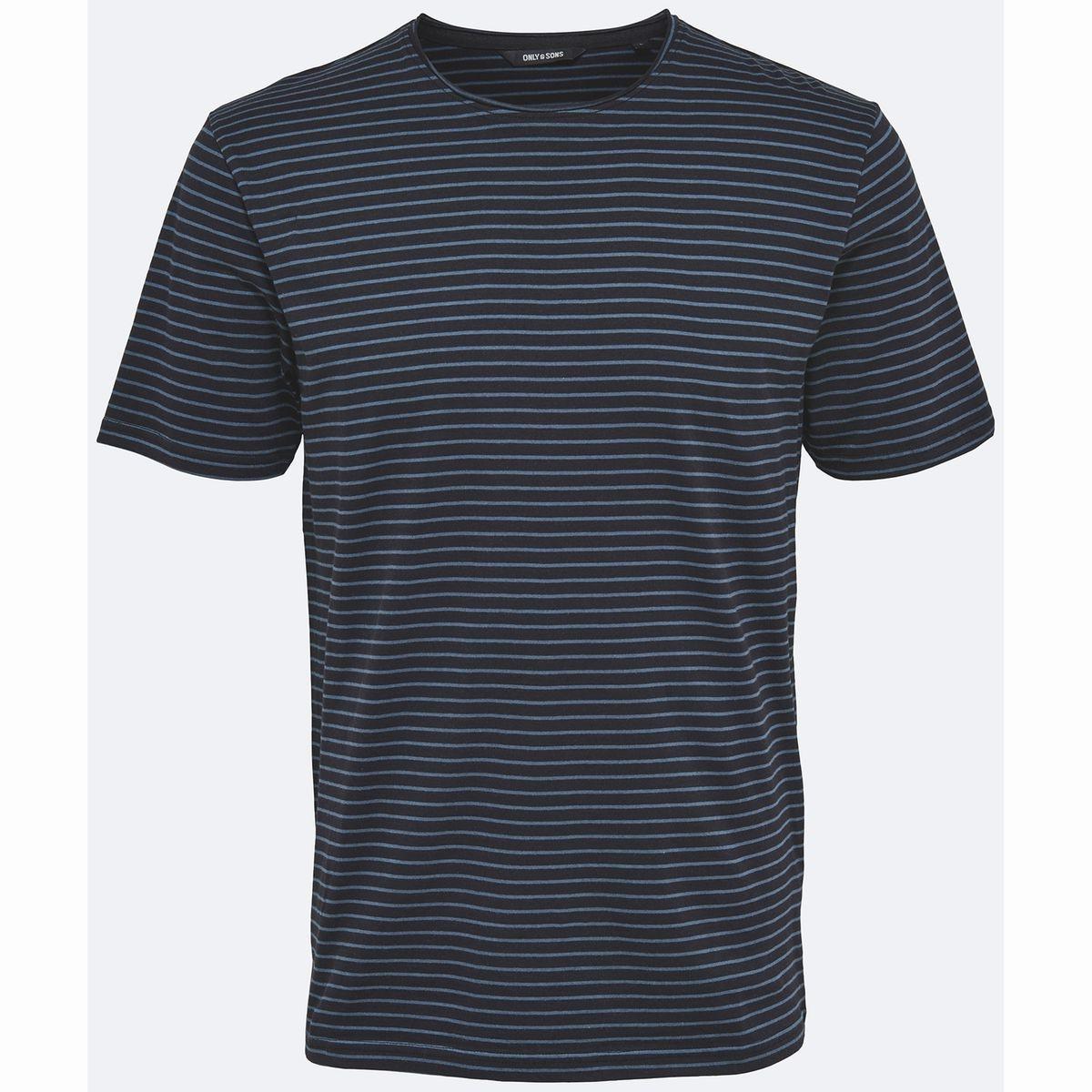 Tee-shirt rayé, col rond