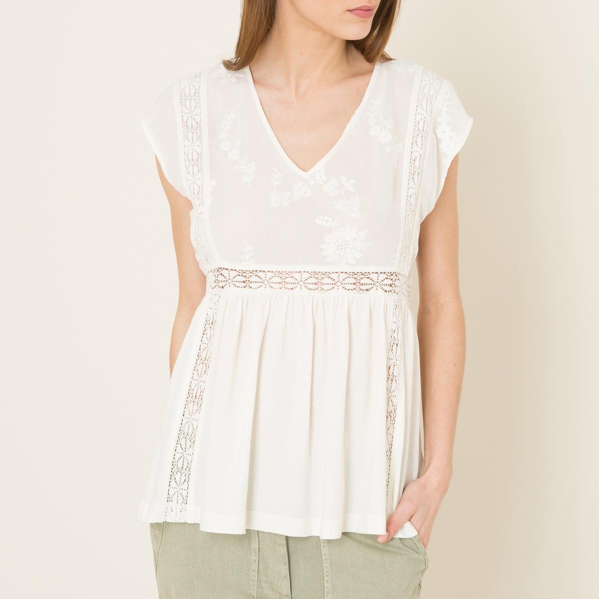 Блузка без рукавов stella толстовка зайка с бабочкой вышивка