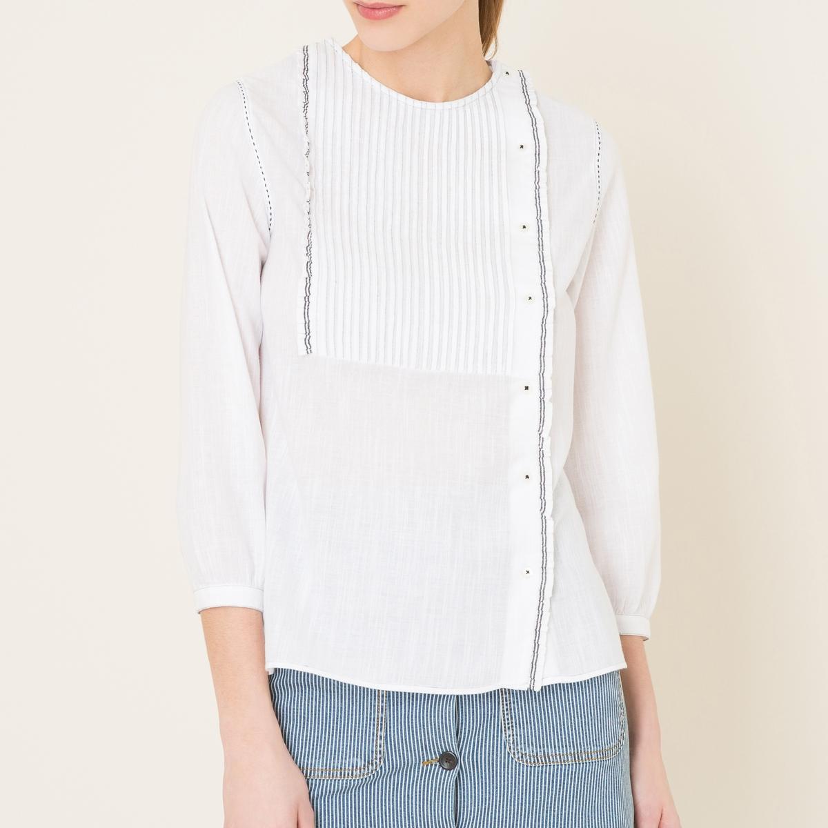 Рубашка с манишкой AMANDAСостав и описаниеМатериал : 100% хлопокМарка : SOEUR<br><br>Цвет: белый