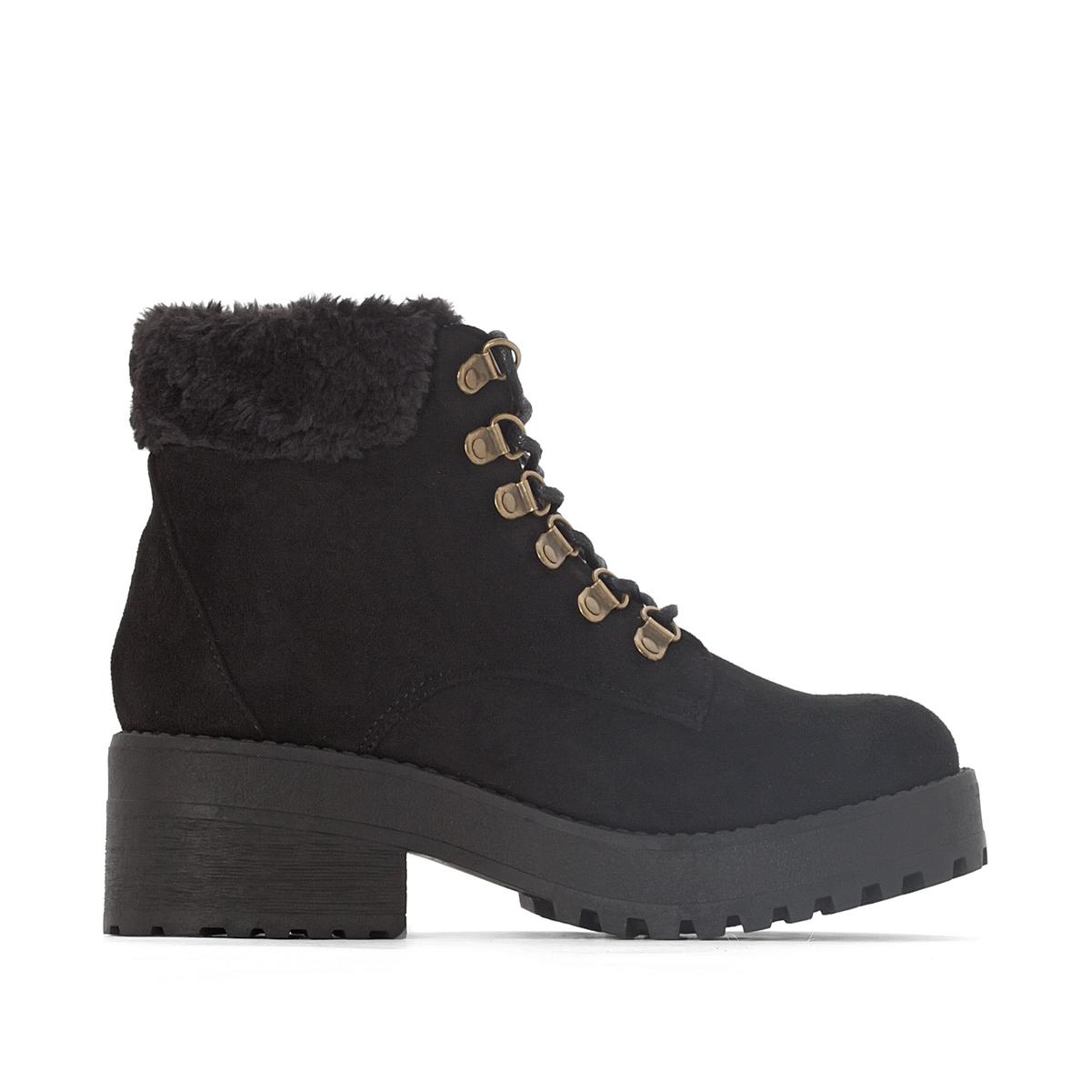 Ботинки на шнуровке Moscu ботинки женские зимние на шнуровке без каблука купить