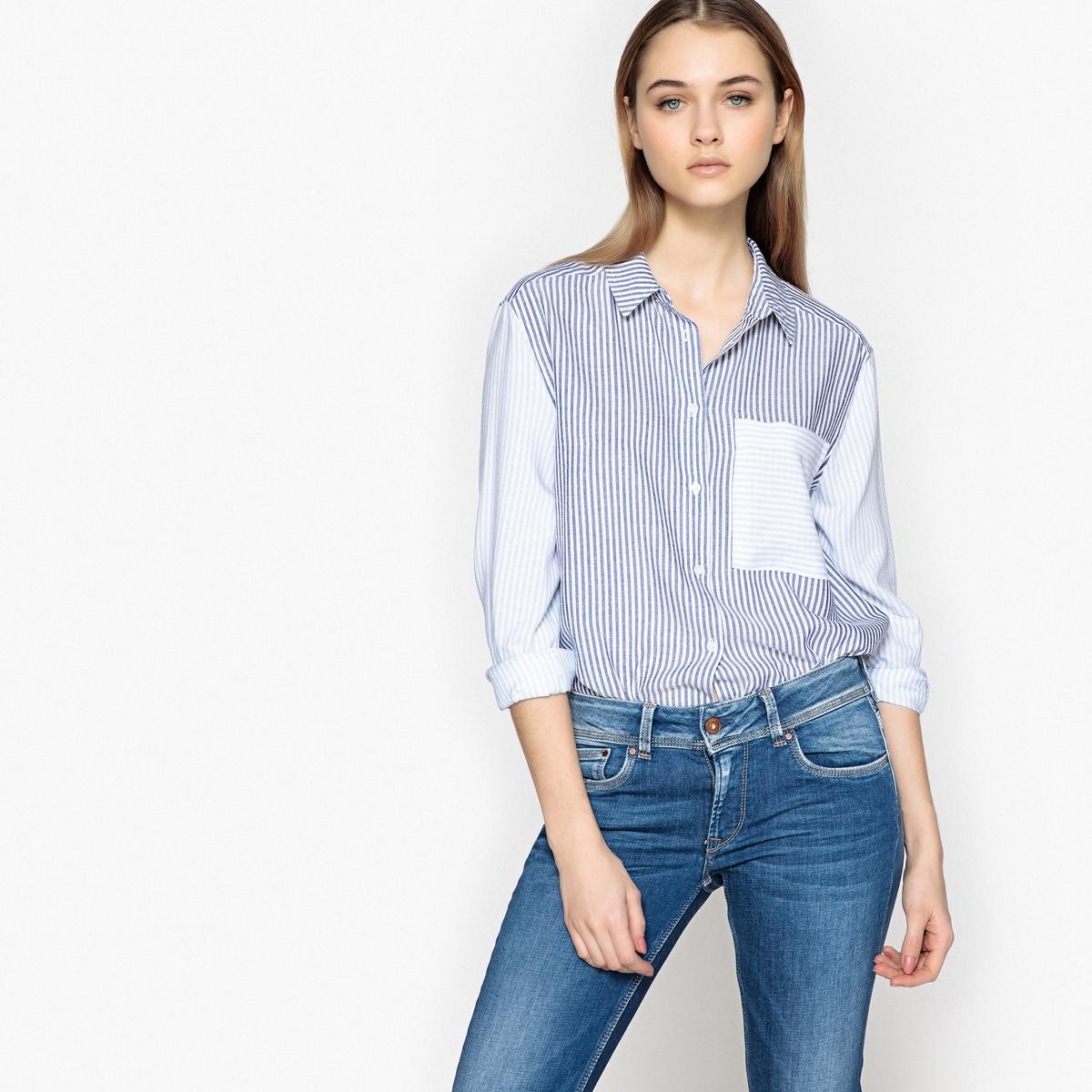 Imagen principal de producto de Camisa recta con cuello camisero de manga larga - Pepe Jeans