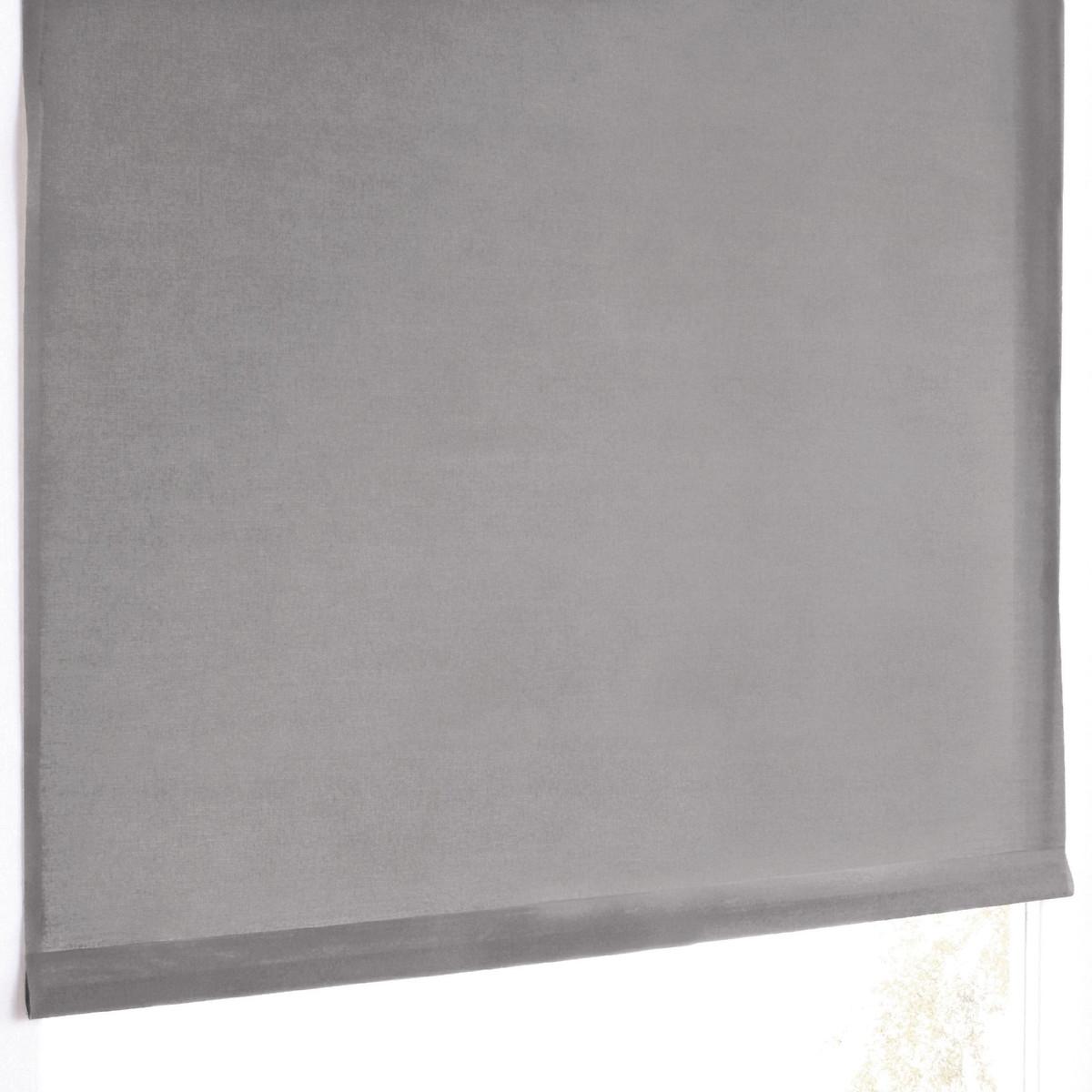 Штора LaRedoute Пропускающая свет широкая SCENARIO 170 x 107 см серый