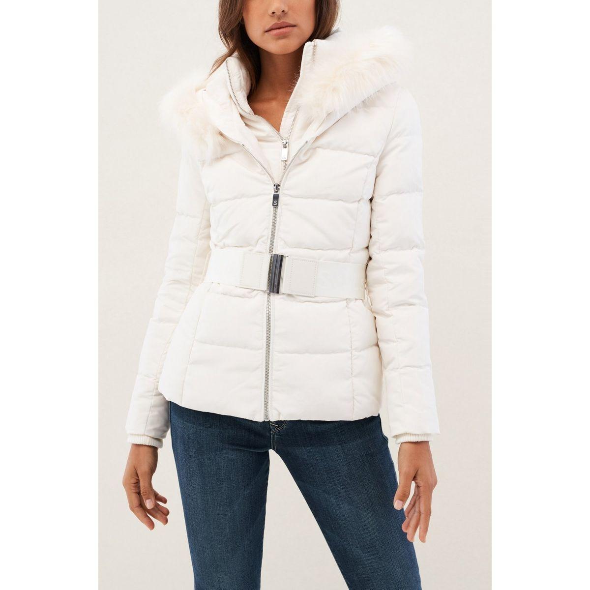 Manteau rembourré avec ceinture et capuche CHAMONIX