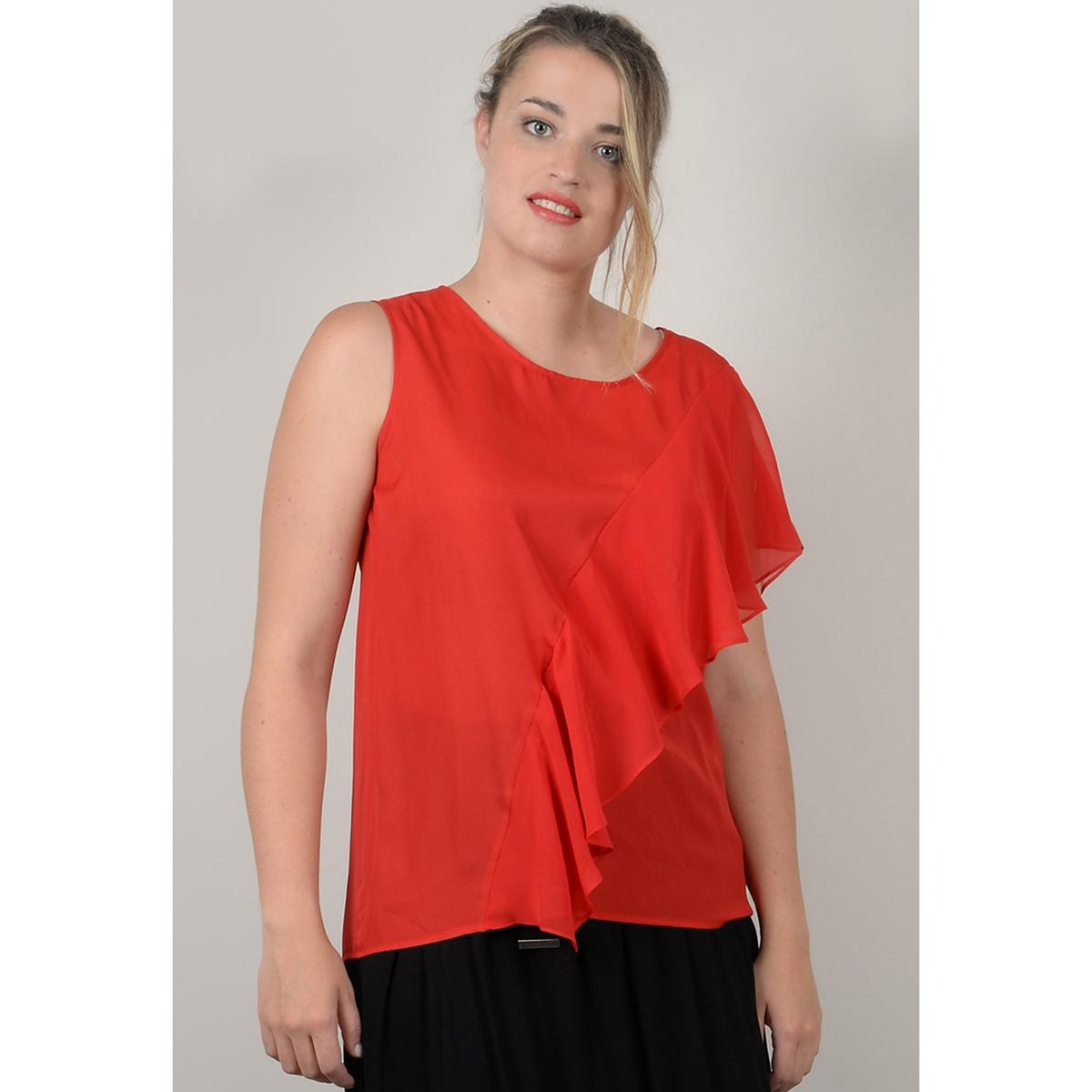 Блузка La Redoute С круглым вырезом без рукавов 44 (FR) - 50 (RUS) красный