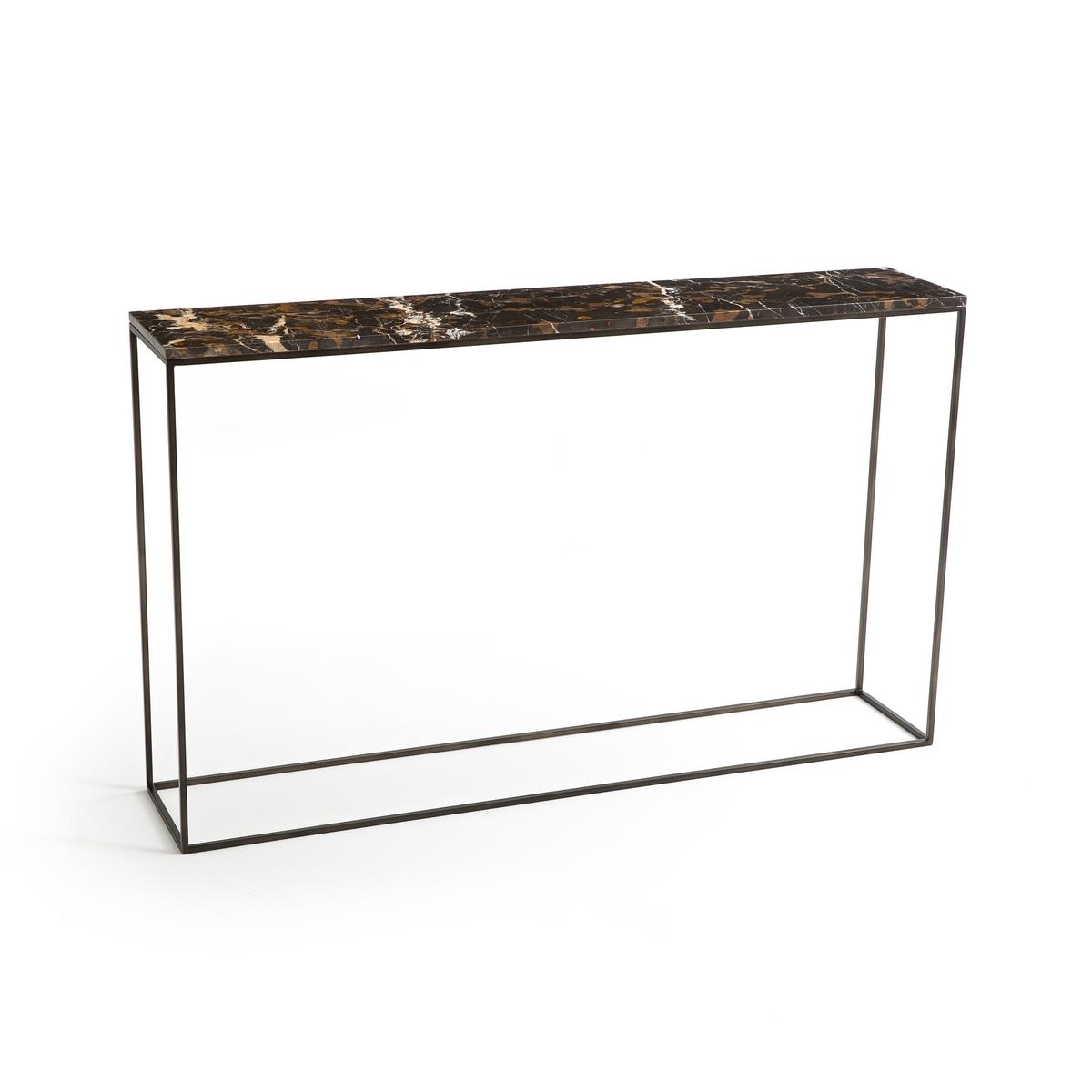 Стол-консоль из янтарного мрамора и металла Д.125 см, Ambrette