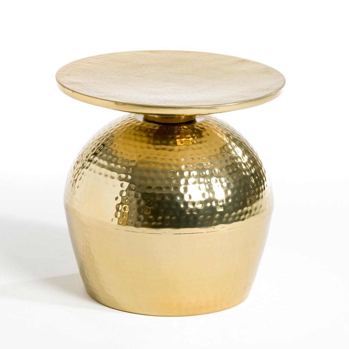 Столик Lothar, маленькая модельСтолик из металла удивительной формы, напоминающей перевернутый бокал, придаст вашему интерьеру необычный штрих .Размеры : ?.40 x В.37 см.<br><br>Цвет: золотистый