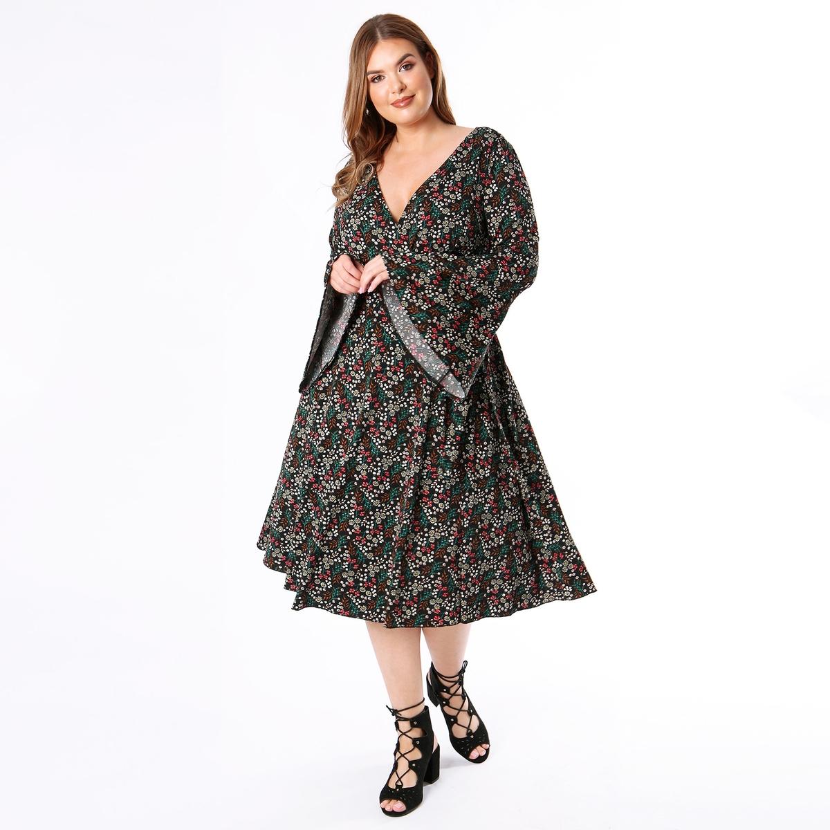 Платье La Redoute С запахом и цветочным рисунком 46 (FR) - 52 (RUS) другие