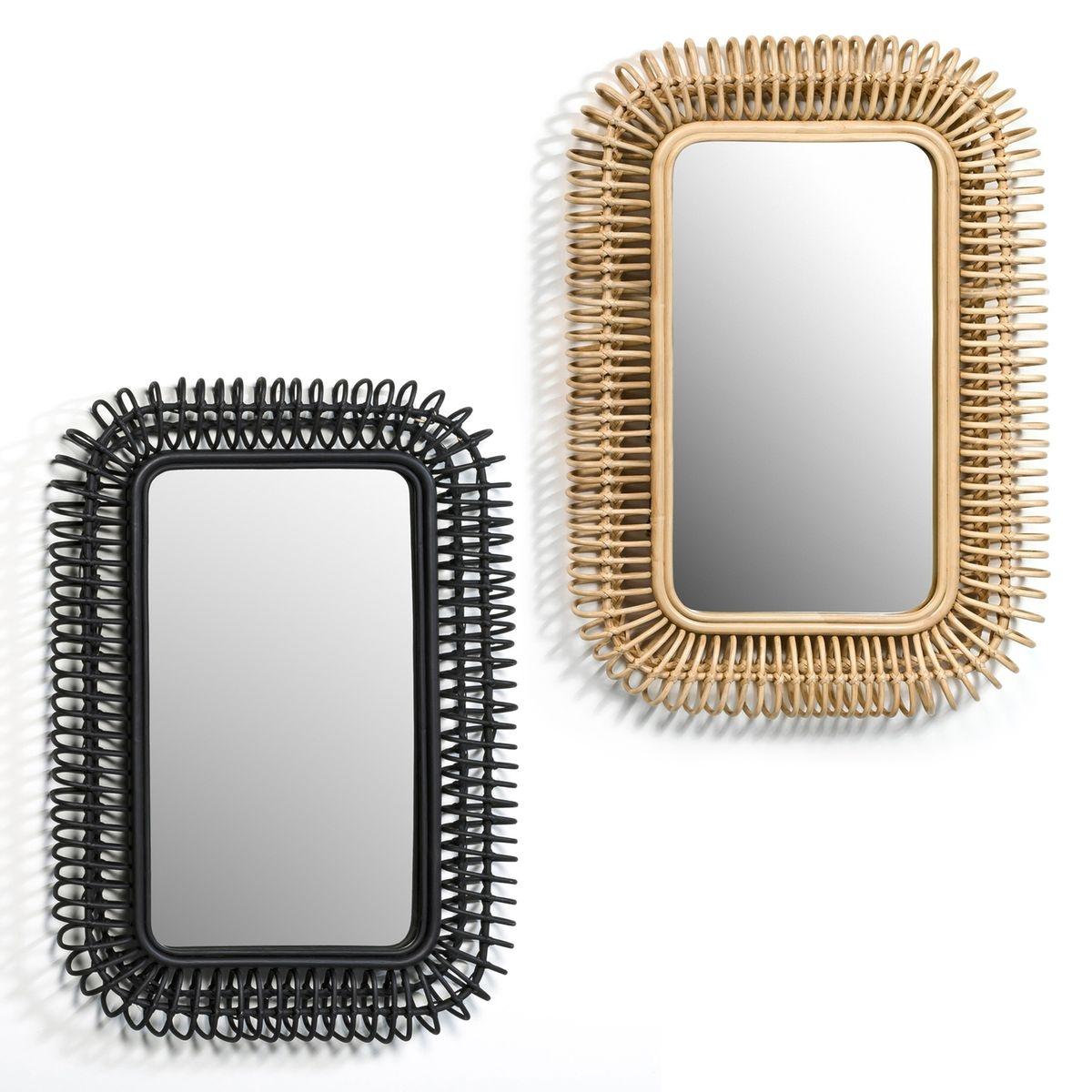 Miroir rotin L90 x H60 cm, Tarsile