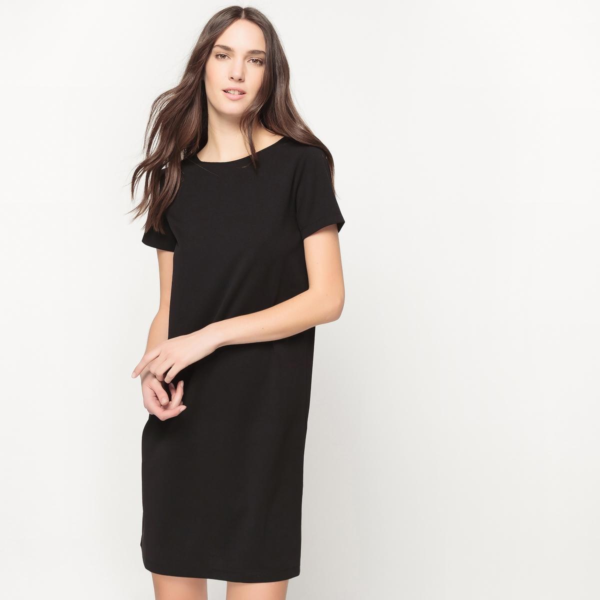 Платье с короткими рукавами, оригинальная спинка