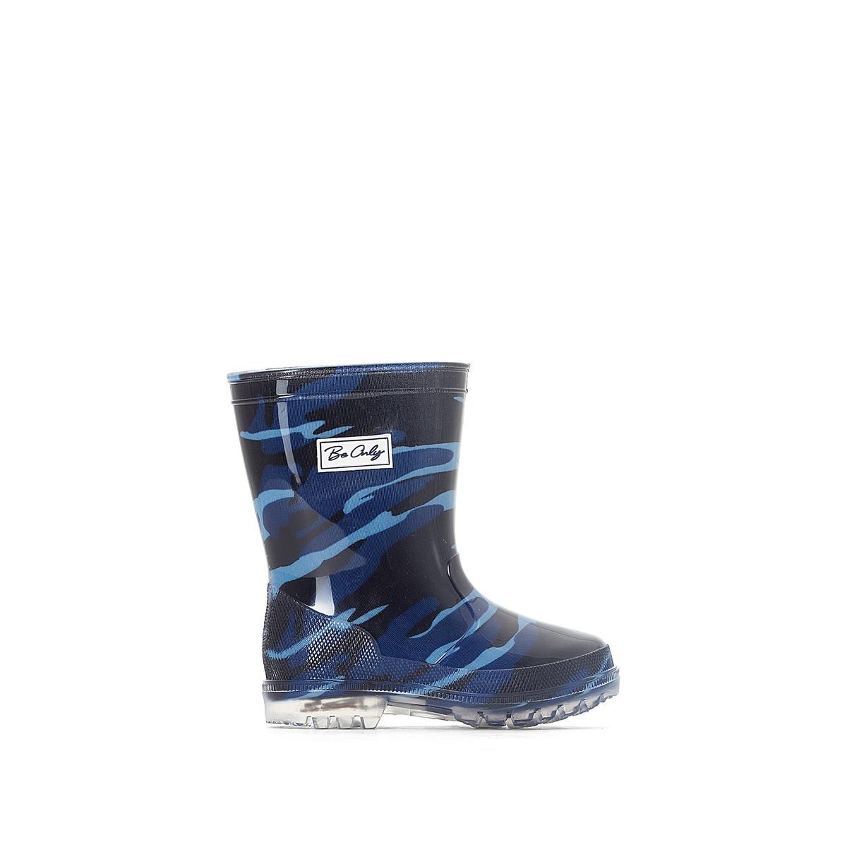 Сапоги резиновые ARMY BLEUДетали   •  Резиновые сапоги •  Плоский каблук •  Круглый мысок •  Застежка : без застежки •  Высота каблука : 2 см.  Состав и уход   •  Верх 100% ПВХ (поливинилхлорид) •  Подкладка 100% вискоза •  Стелька 100% текстиль •  Подошва 100% ПВХ<br><br>Цвет: синий