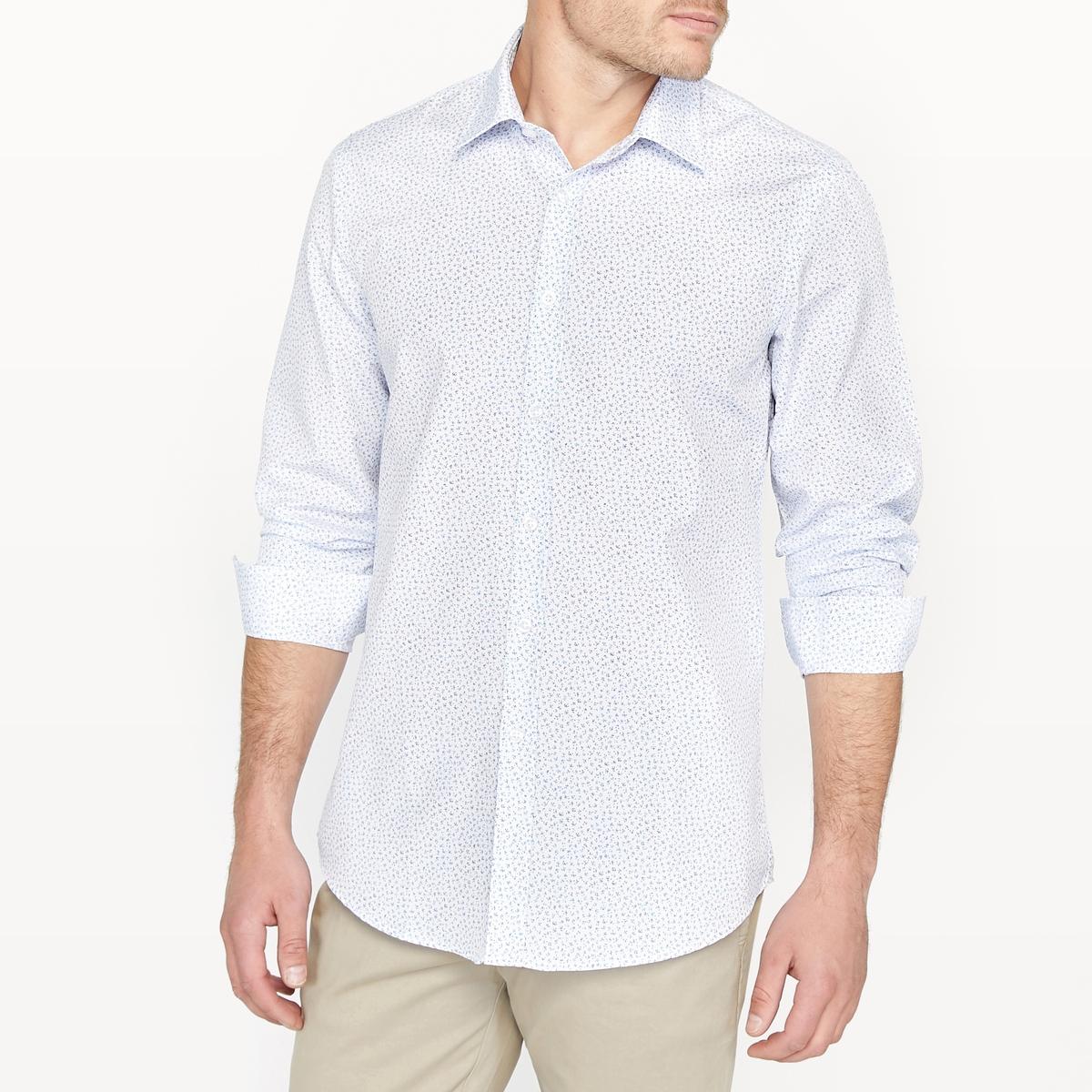 Рубашка узкая с принтом