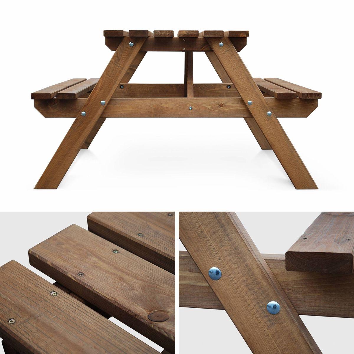 Table de pique nique padano 150cm rectangulaire avec bancs, salon de ...