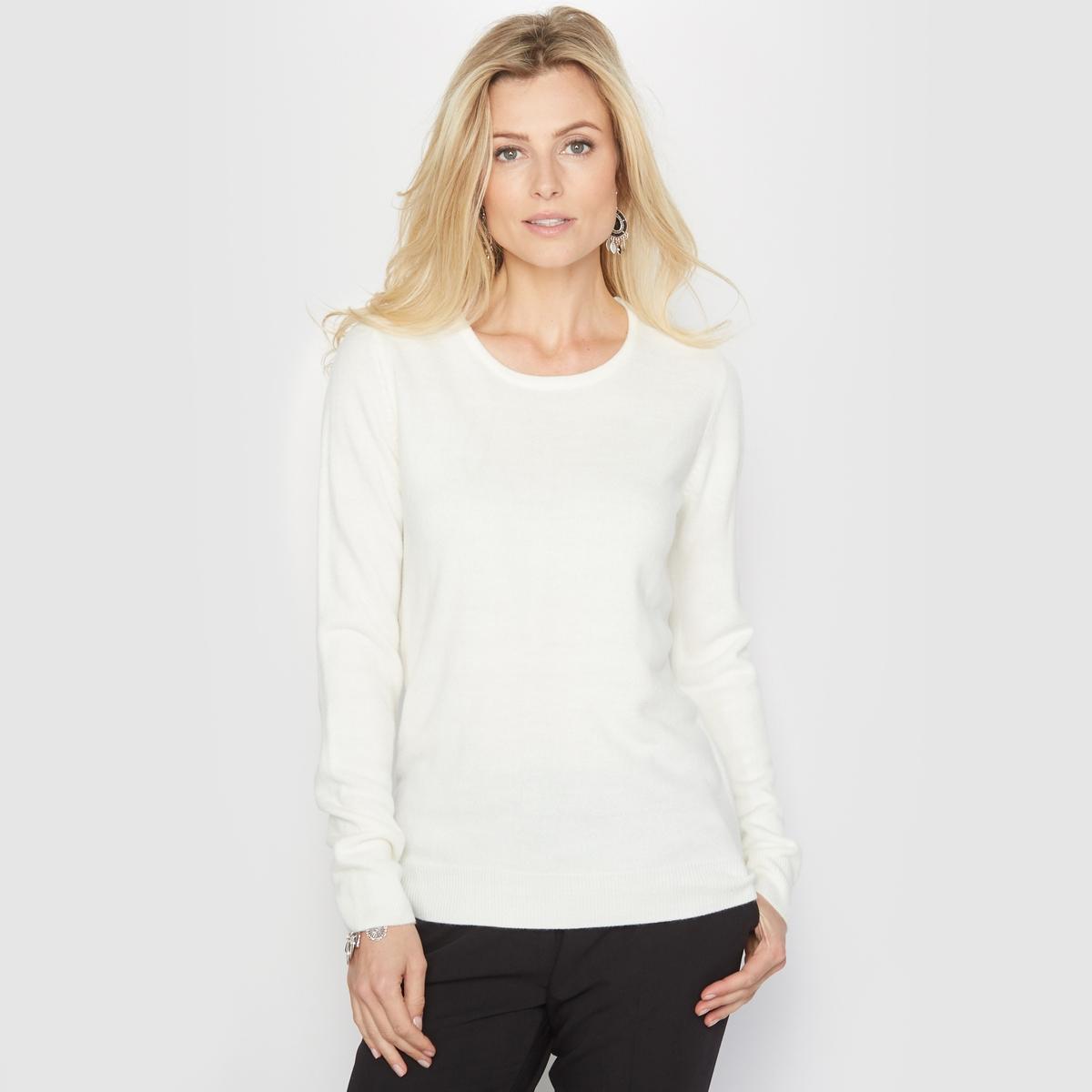 Пуловер с круглым вырезом из тонкого трикотажа anne weyburn