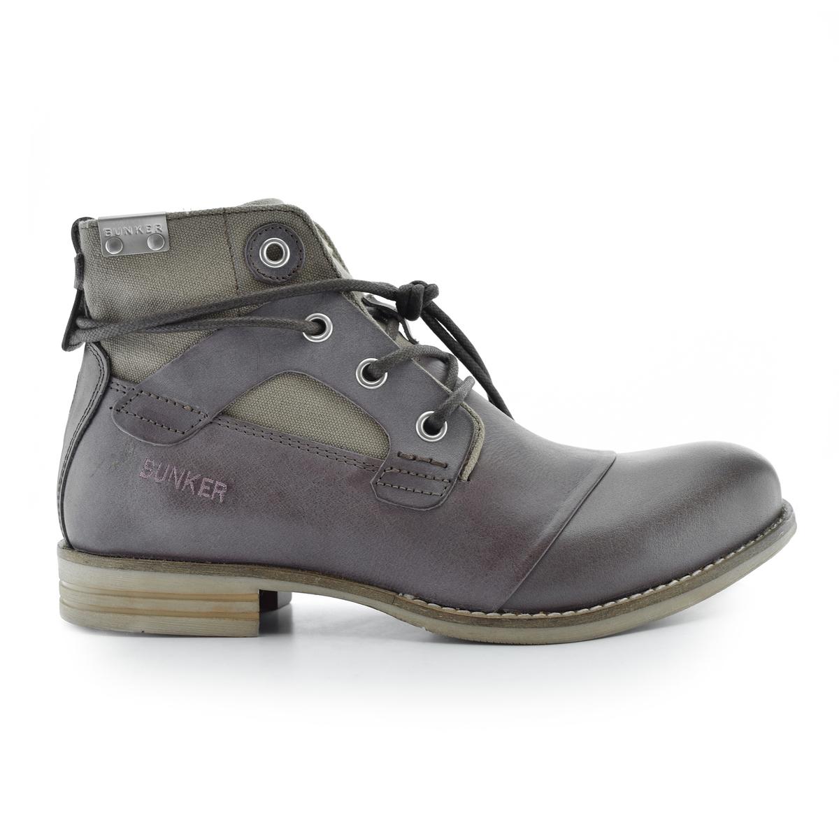 Ботильоны кожаные на шнуровке Yon цены онлайн