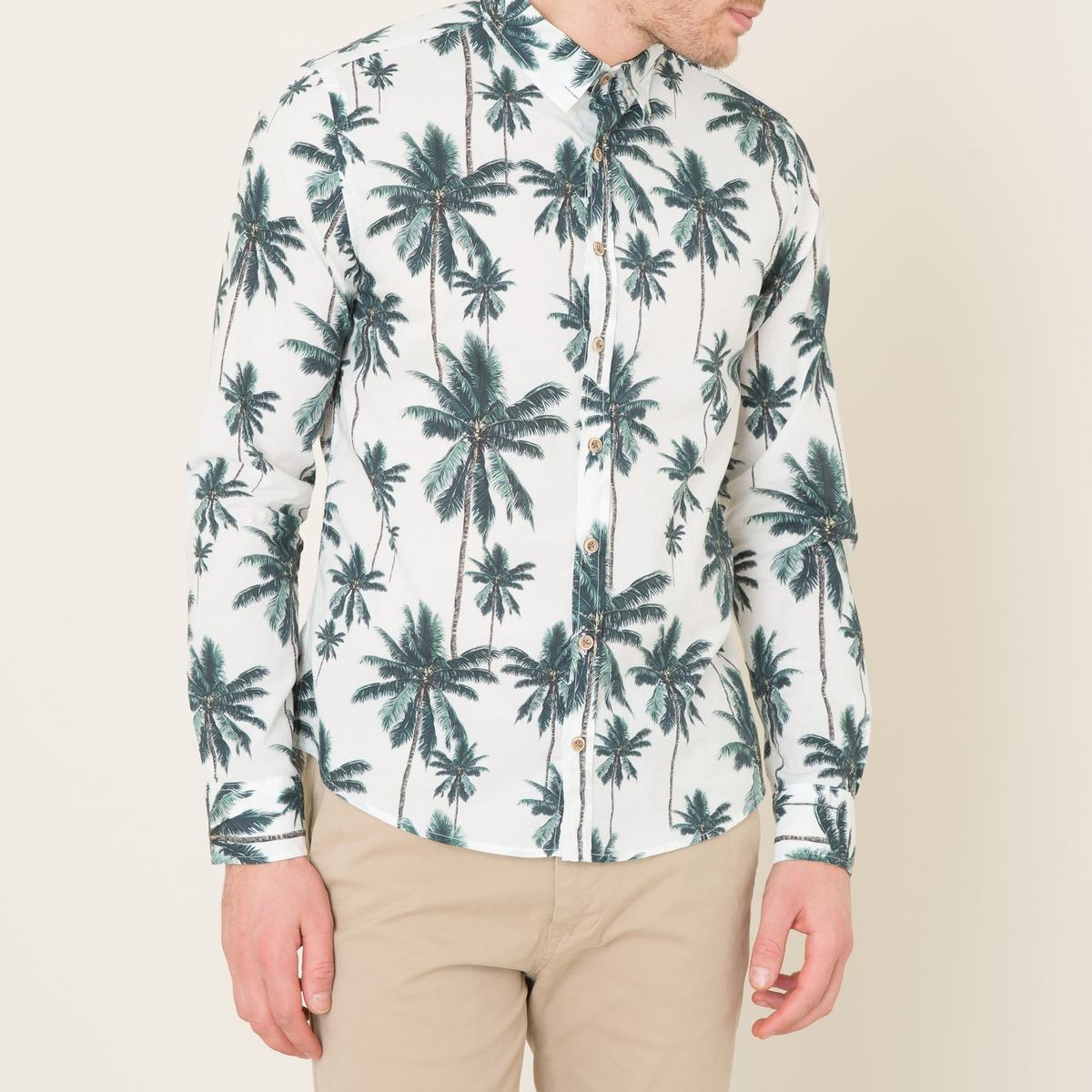 Рубашка классическая FABIOСостав и описание    Материал : 100% хлопок   Марка : HARRIS WILSON<br><br>Цвет: экрю<br>Размер: L