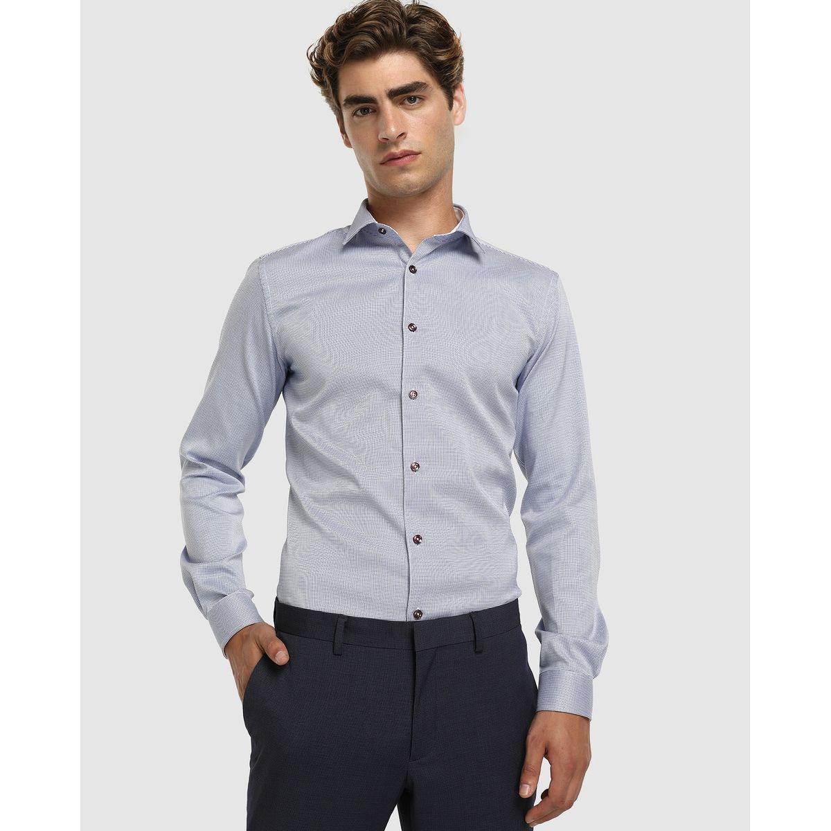 Chemise slim habillée repassage facile unie