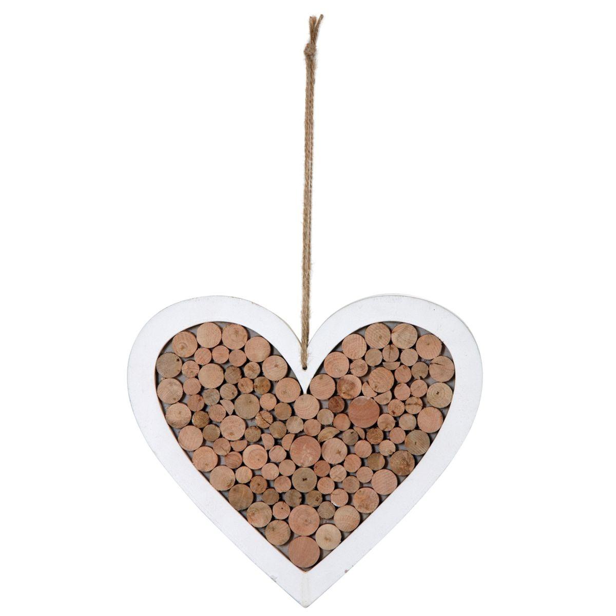 Coeur à suspendre en bois