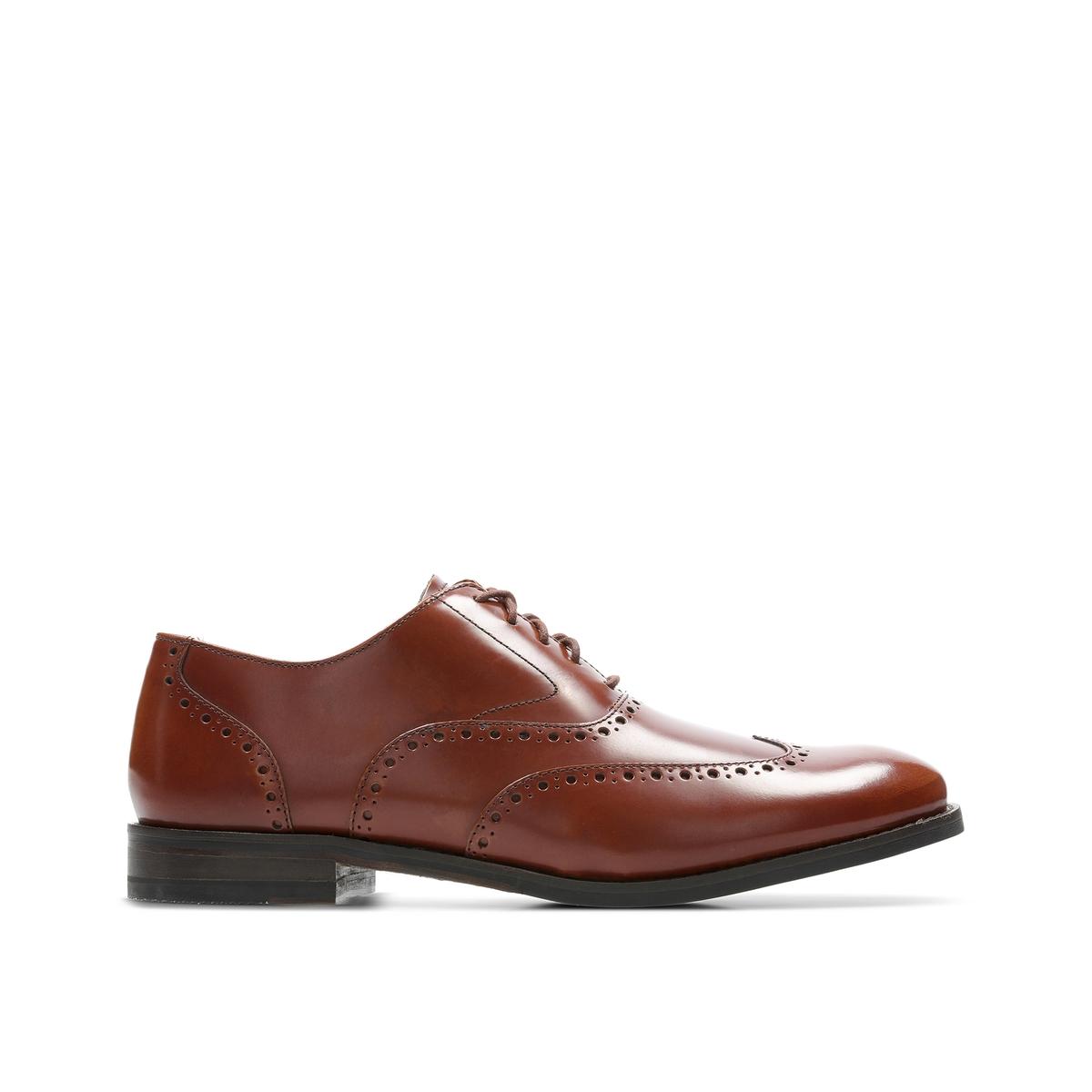 Ботинки-дерби La Redoute Из кожи Edward Walk 40 каштановый цена 2017
