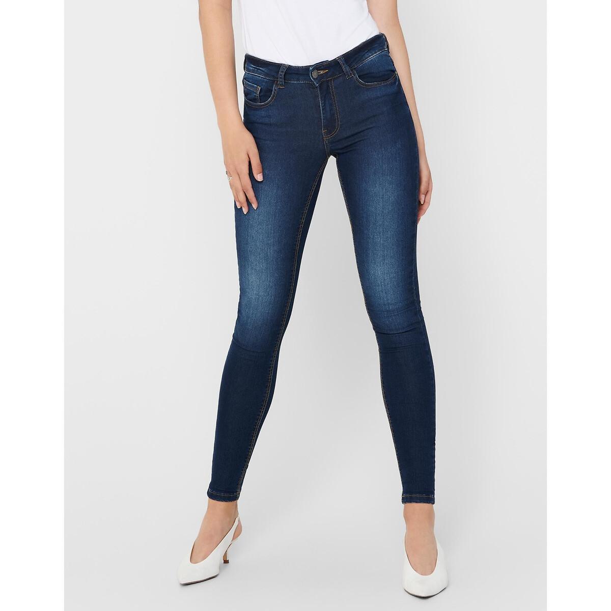 Фото - Джинсы LaRedoute Скинни XS/30 синий джинсы laredoute скинни длина 30 s черный