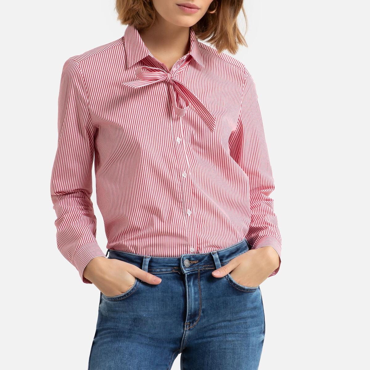 Camisa a rayas con chalina