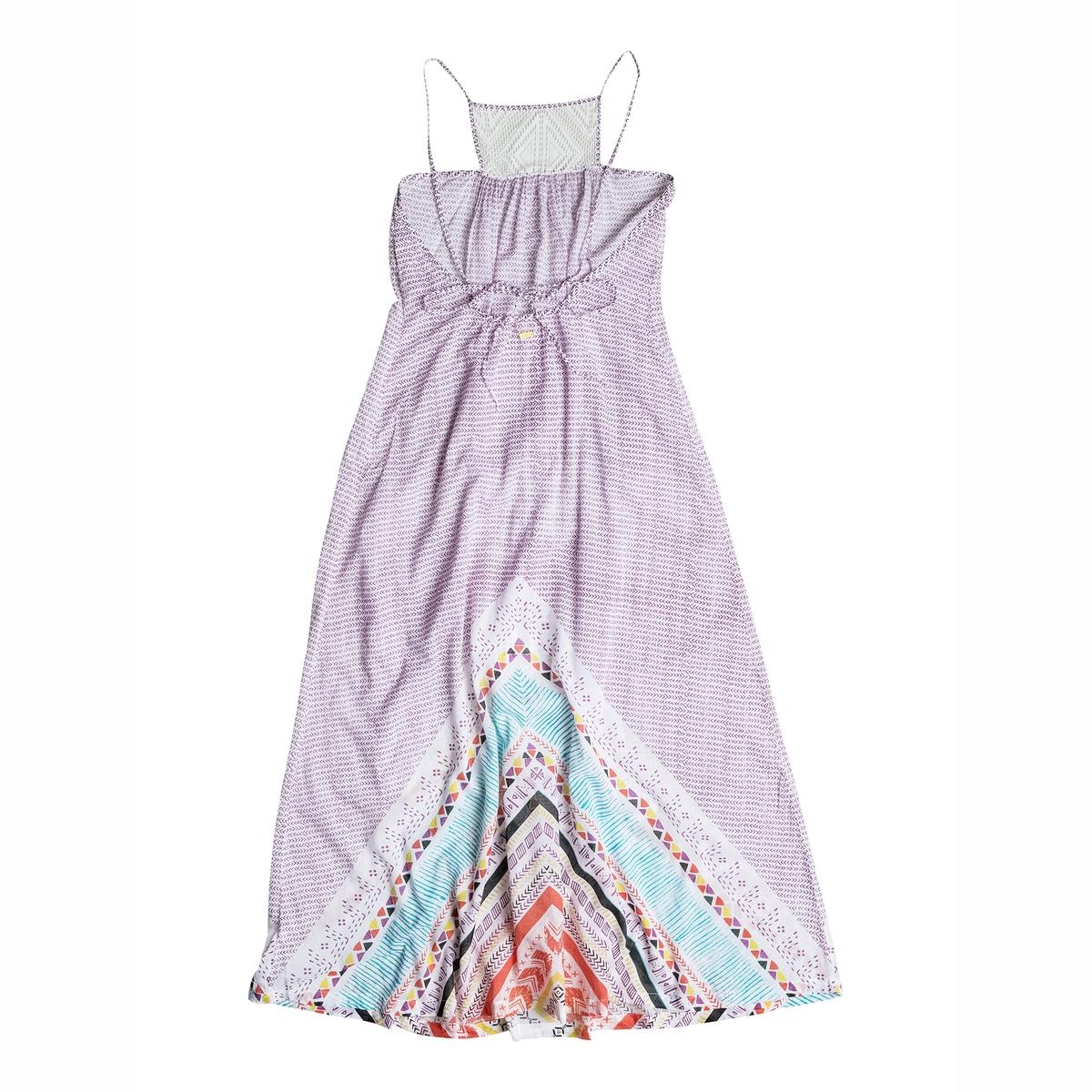 Платье длинное на тонких бретелях, с рисунком ROXY, LOST BOHEMIANСостав и характеристики: :Материалы  : 100% хлопкаМарка : ROXY<br><br>Цвет: белый наб.рисунок
