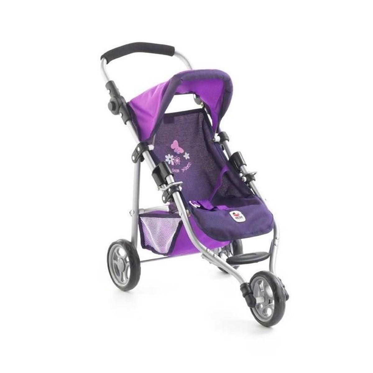 (Art. poupées) 612 25 Petite poussette de jogging LOLA - Violet