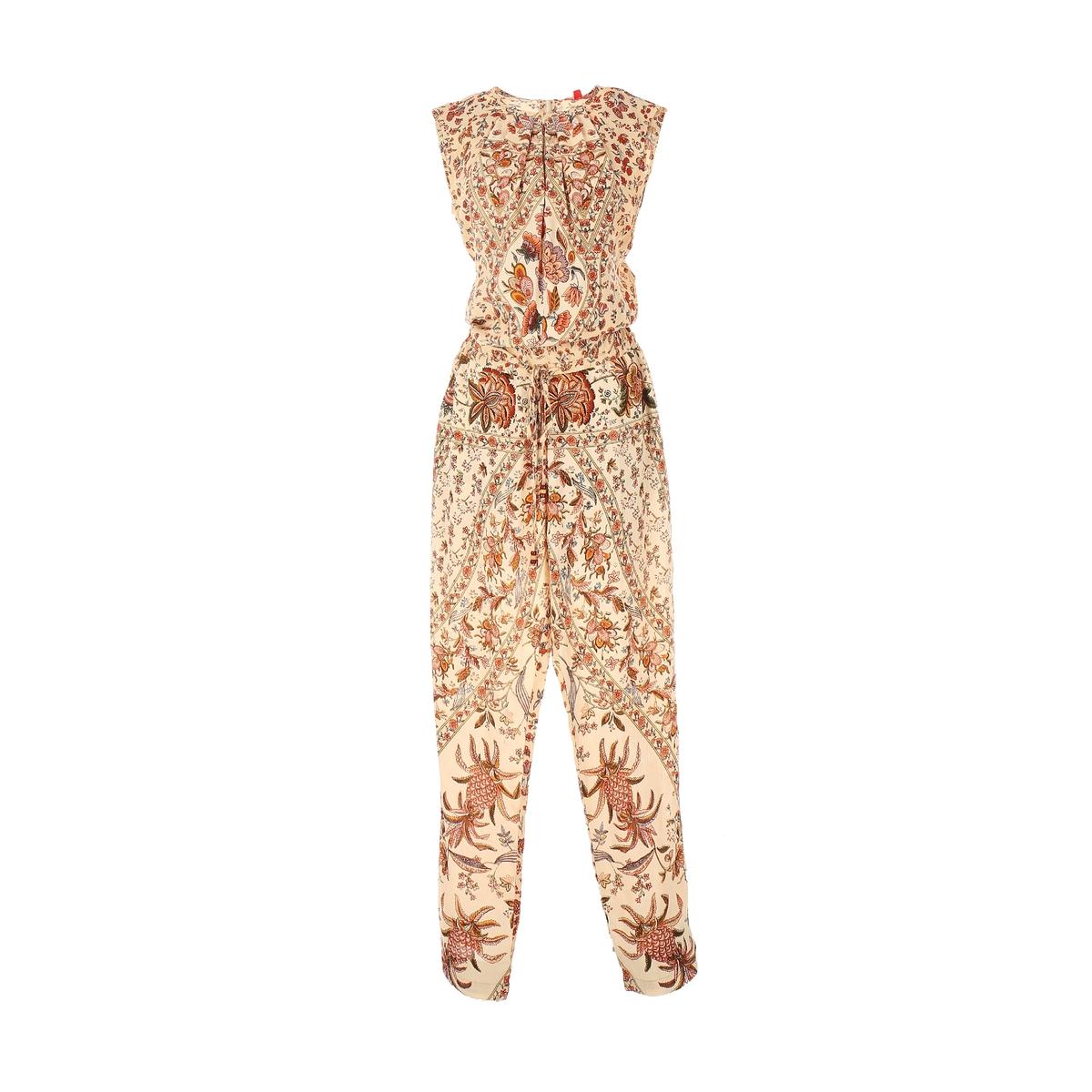 Комбинезон с брюками с рисункомМатериал : 100% вискоза Покрой комбинезона : комбинезон  Тип комбинезона : комбинезон с брюками<br><br>Цвет: рисунок бежевый
