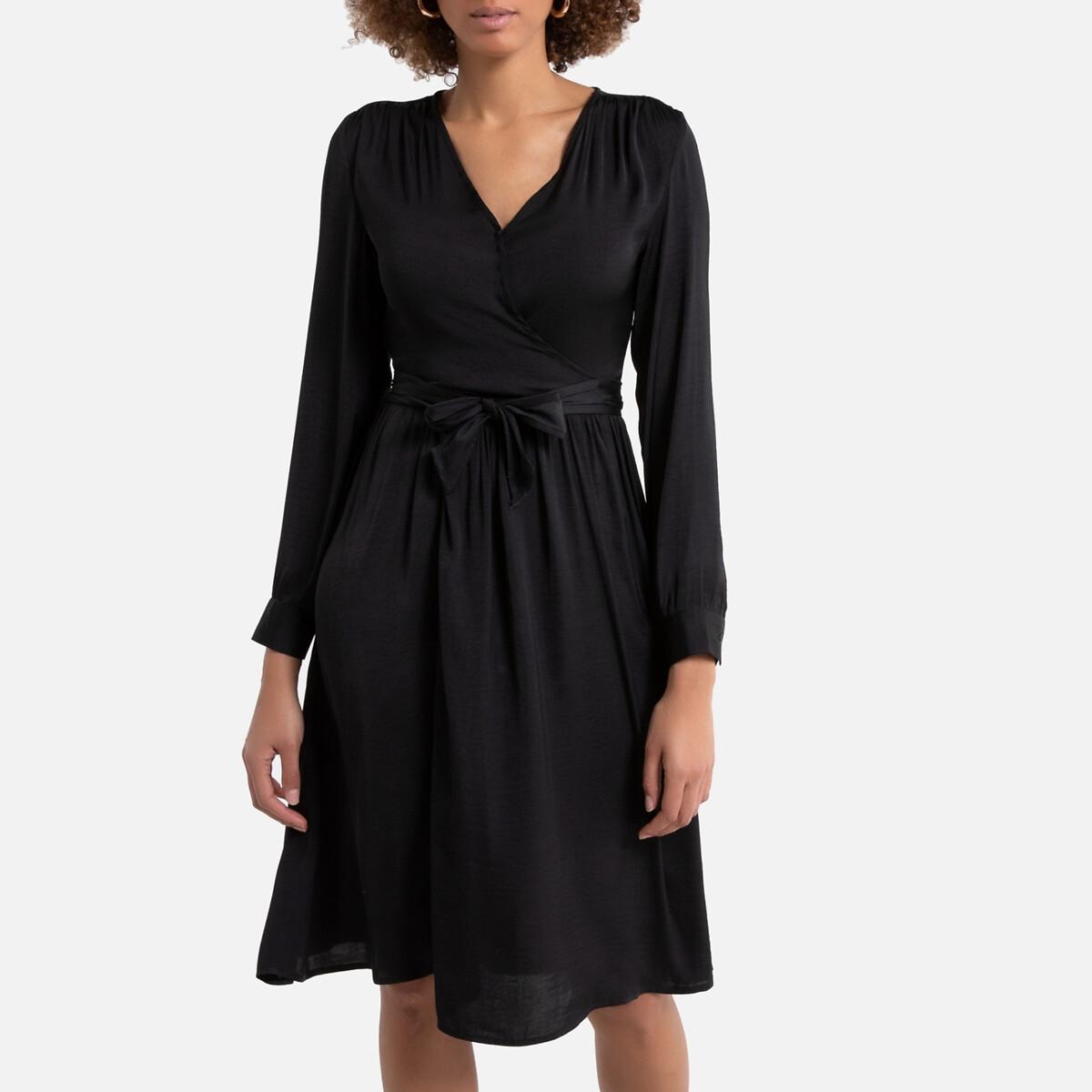 Платье La Redoute С запахом 48 (FR) - 54 (RUS) черный