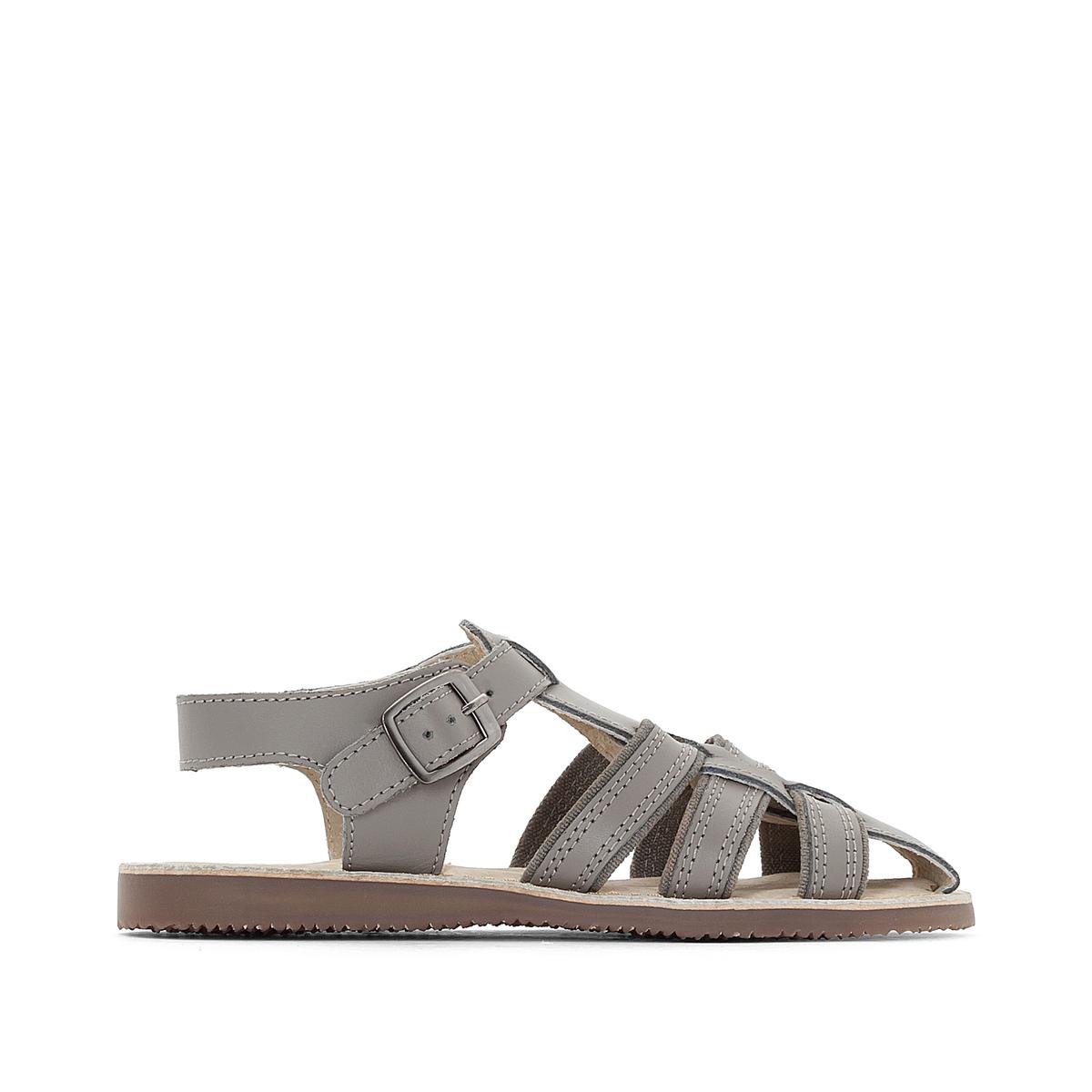 Sandali pelle con fibbia 26-39