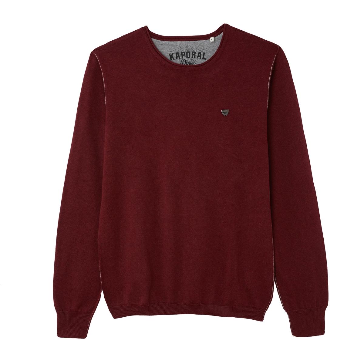Пуловер La Redoute С круглым вырезом из хлопка Great S красный свитшот la redoute с круглым вырезом и вышивкой s черный