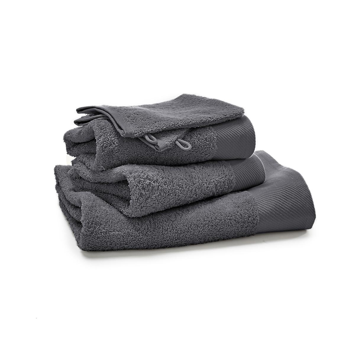 Комплект из однотонных банных La Redoute Принадлежностей из махровой ткани гм SCENARIO единый размер серый полотенце la redoute для рук из махровой ткани хлопок с люверсом единый размер бежевый