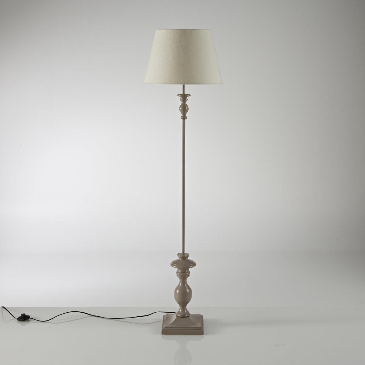 Торшер из гельвеи, KissaТоршер из обработанного дерева Kissa : 1м55 см оригинальности и элегантности .Описание Kissa :Патрон E27 для лампочки макс 60W (не входит в комплект)  .Торшер Kissa продается готовым к сборке.Этот светильник совместим с лампочками    энергетического класса    : от A до E Характеристики Kissa :Ножка из гельвеи серо-коричневого цвета.Абажур из хлопка светло-бежевого цвета .Найдите другие светильники и коллекцию Kissa на сайте laredoute.ru .       Размеры Kissa :Ширина : 40 смГлубина : 40 смВысота : 155 см.Абажур: верх ?28, низ ?40 x Выс26 см .              Размеры и вес упаковки : 1 упаковка44 x 43 x 44 см, 4,5 кг              Сервис LaRedoute<br><br>Цвет: серо-каштановый/экрю