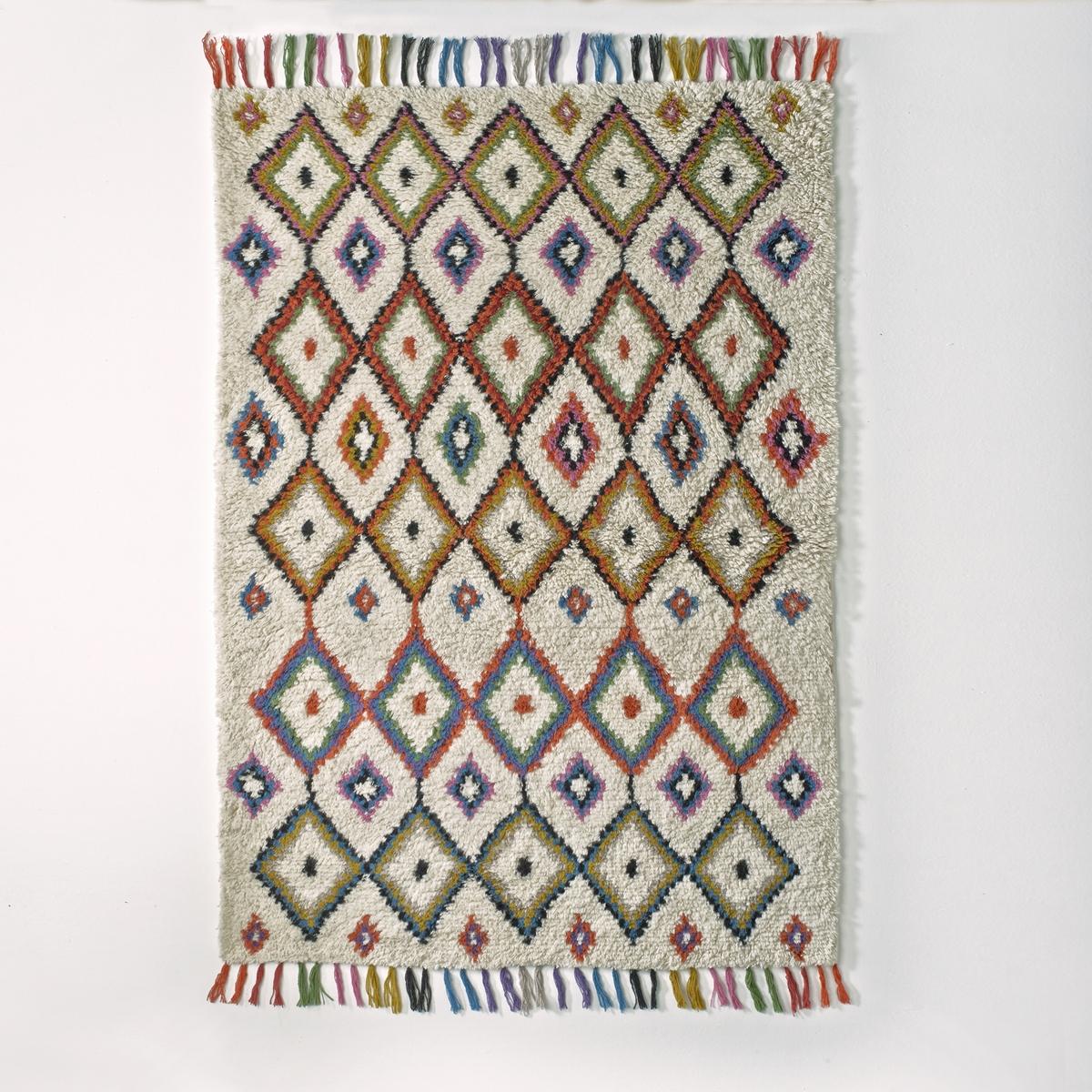 Ковер La Redoute В берберском стиле Ourika 120 x 170 см разноцветный ковер la redoute шерсть в берберском стиле anton 120 x 170 см бежевый