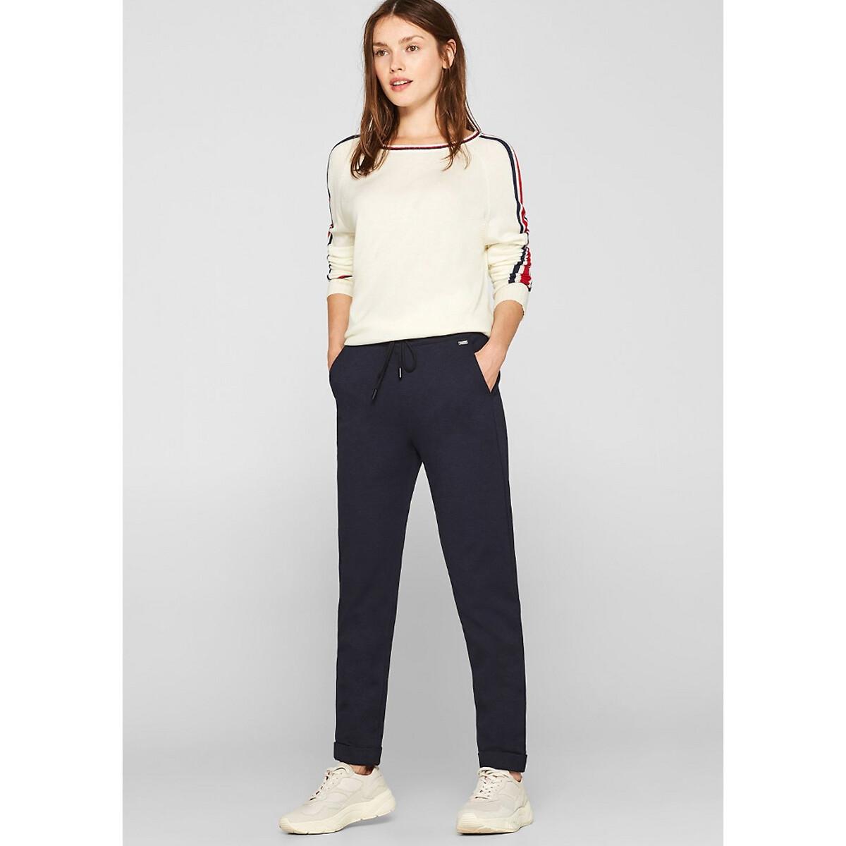 Pantalón recto con cintura elástica, largo 30