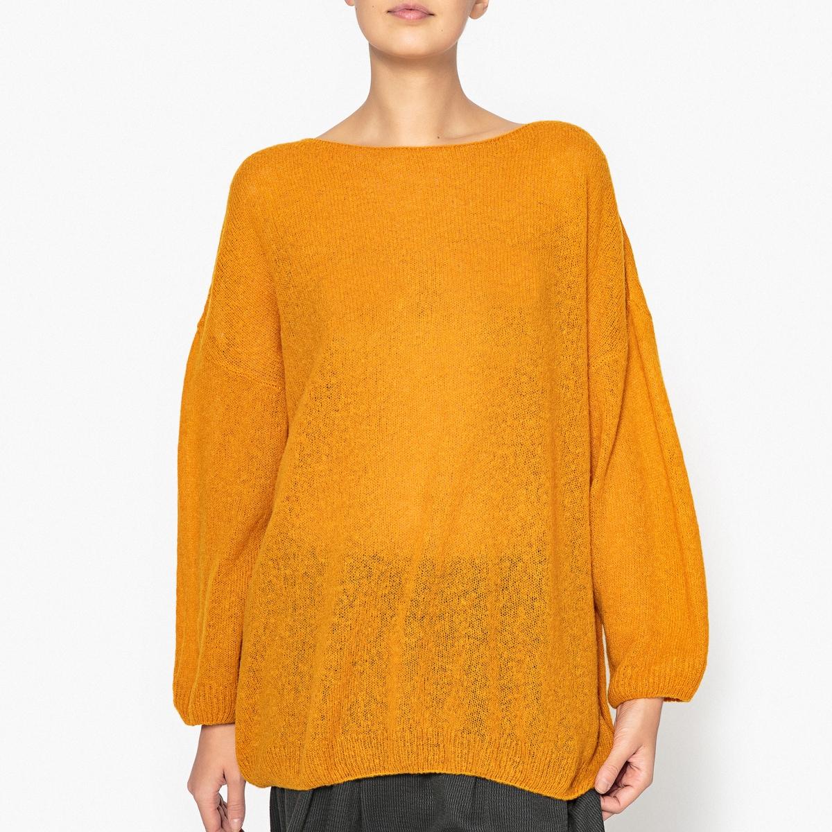 Пуловер с воротником-лодочкой, из шерсти и альпаки LULUBAY