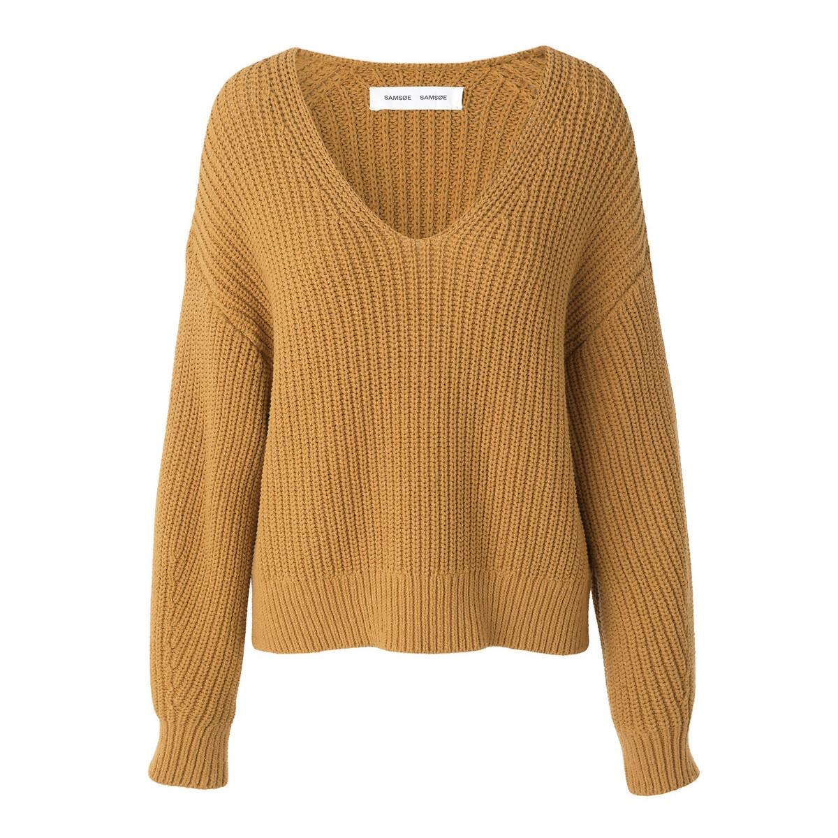 Фото - Пуловер La Redoute С V-образным вырезом из плотного трикотажа S каштановый пуловер la redoute с v образным вырезом из тонкого трикотажа florestine 2 m серый
