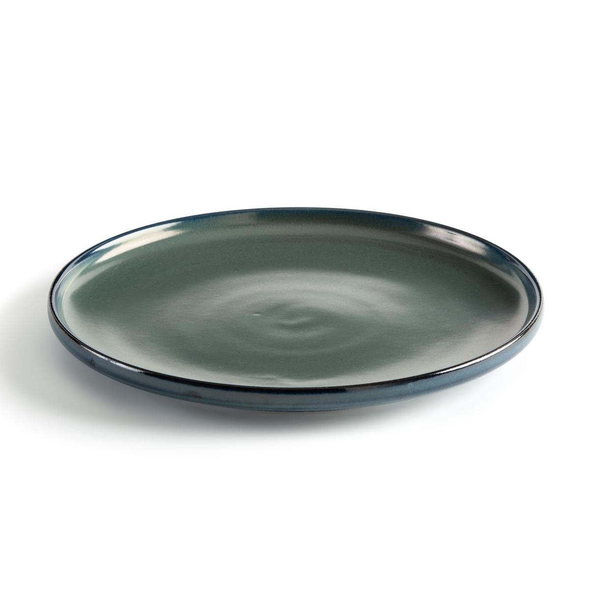 4 мелкие La Redoute Тарелки из глазурованной керамики Akira единый размер синий плоские la redoute тарелки из эмалированной керамики attale единый размер каштановый