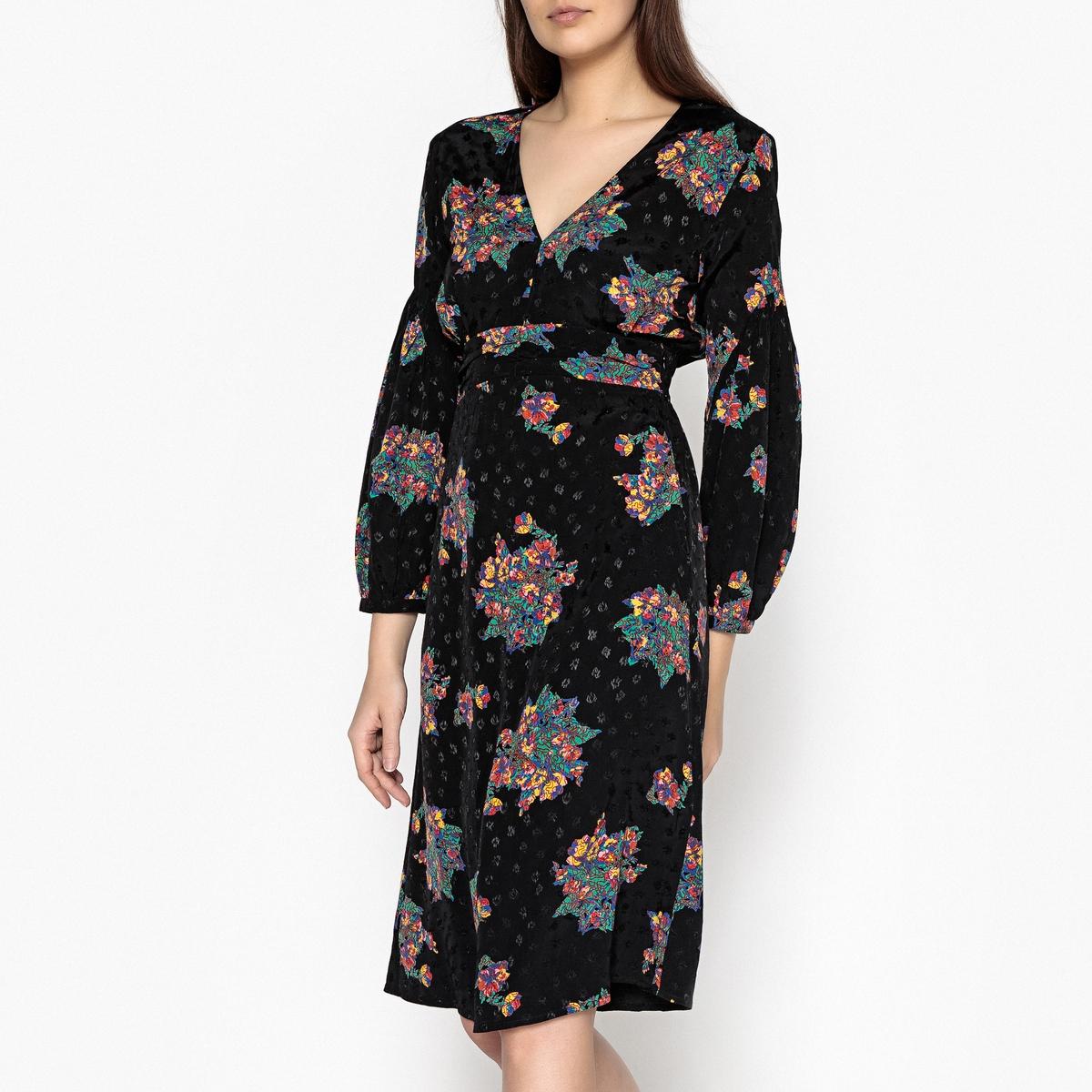 Платье с рисунком FLAME прилегающее платье со складками monica прилегающее платье со складками