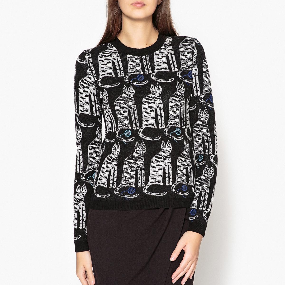 Пуловер с рисунком коты SWEETIES