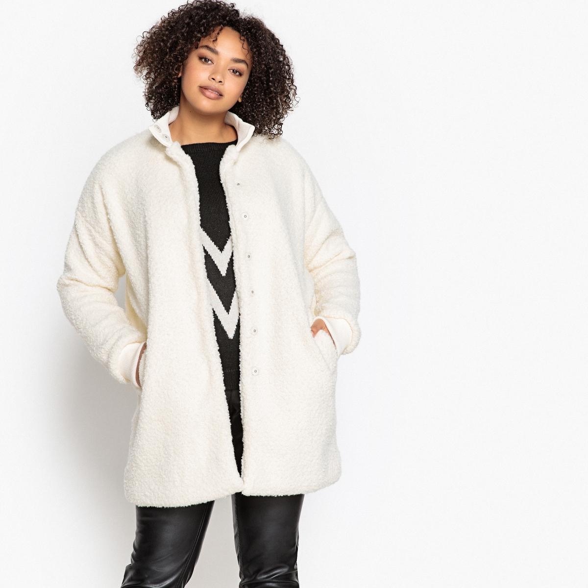 Пальто короткое с застежкой на кнопки