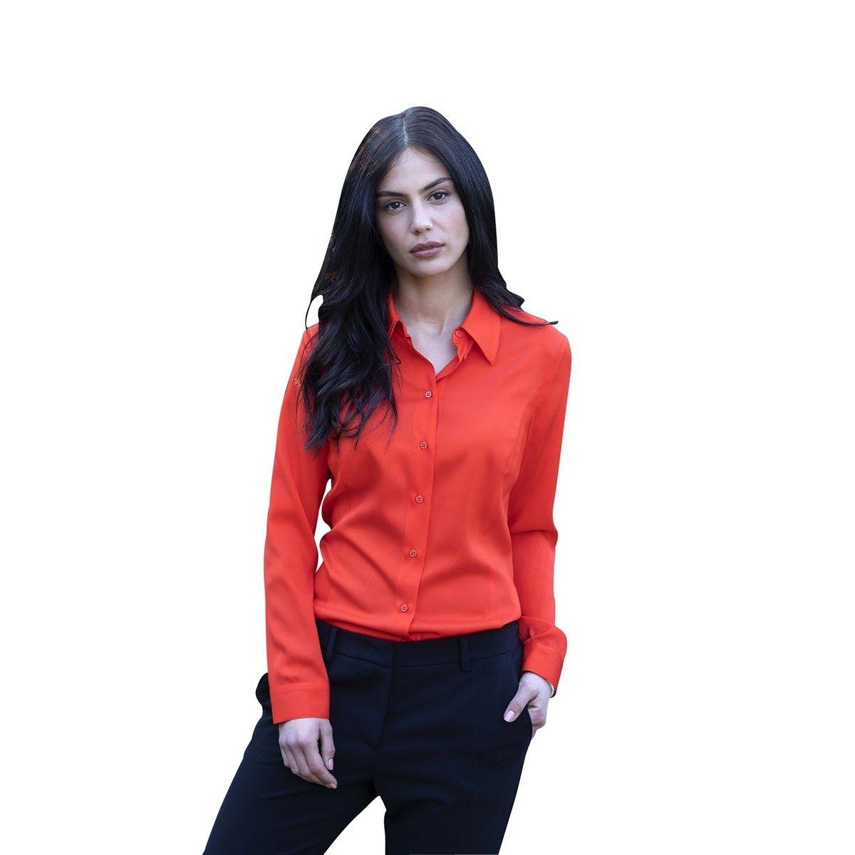 Chemise féminine en stretch colorée