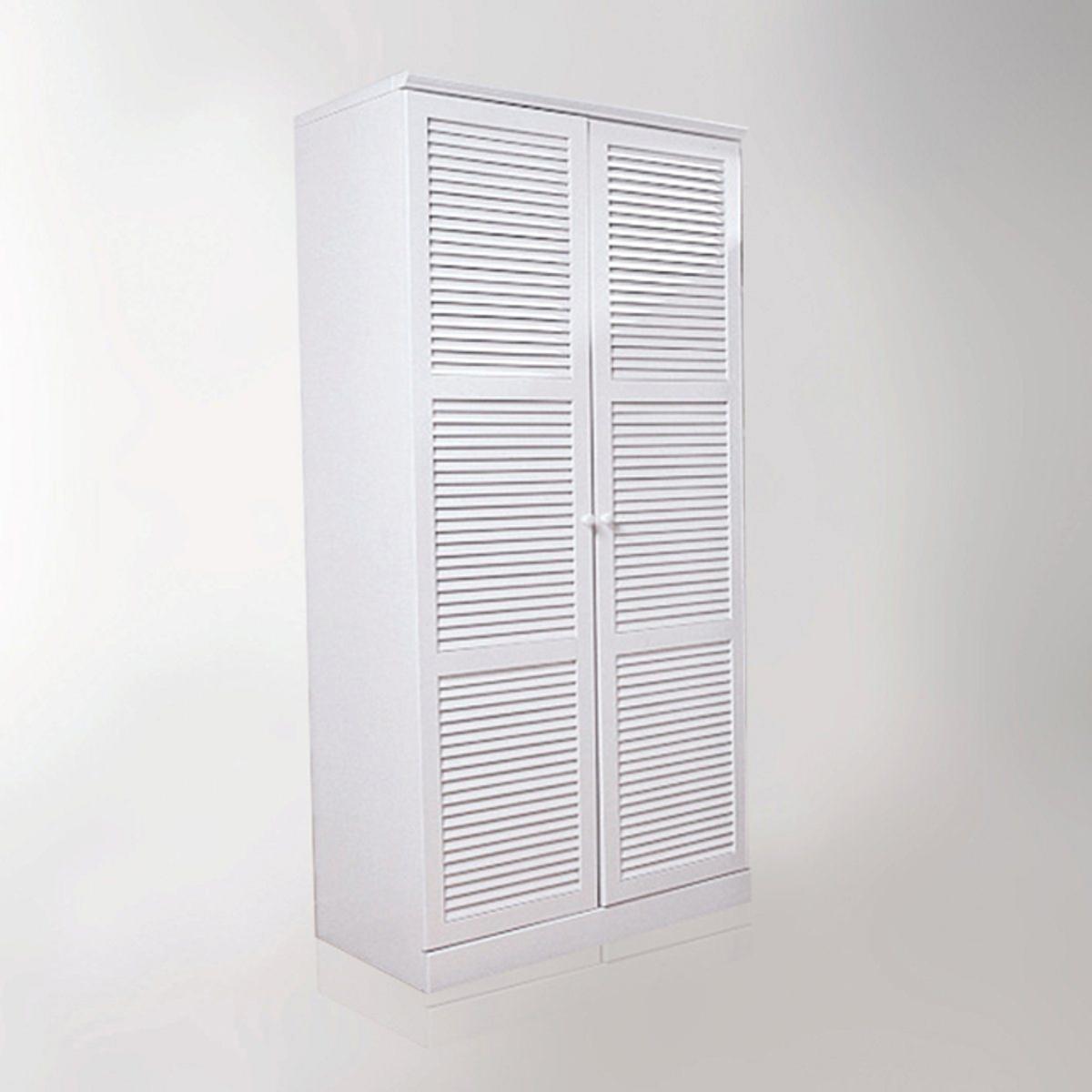 Шкаф LaRedoute Из массива сосны H205 см с вешалкой Mayor единый размер белый