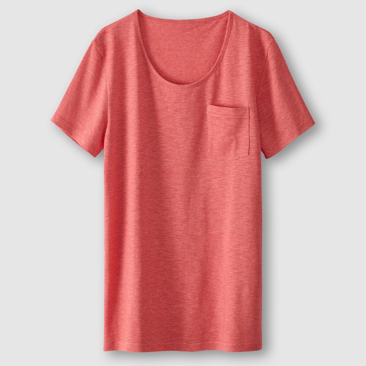 ФутболкаФутболка с короткими рукавами. Прямой покрой, круглый вырез. Нагрудный карман. Низ и рукава украшены видимой строчкой.Состав и описаниеМатериал: 50% хлопка, 50% полиэстера.   Марка: SOFT GREY.<br><br>Цвет: коралловый меланж,серый меланж<br>Размер: XXL