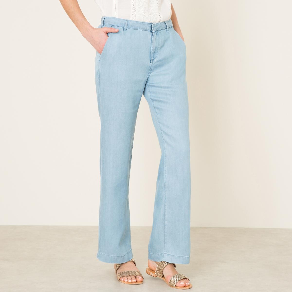 Брюки из тенселаСостав и описание    Материал : 100% тенсел в стиле джинсовой тканиМарка : MAISON SCOTCH<br><br>Цвет: синий