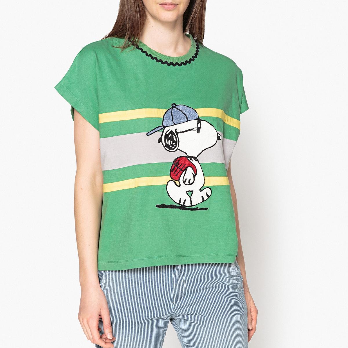 Футболка короткая с рисунком Snoopy SCHOOL пуховики snoopy bw30631 30631
