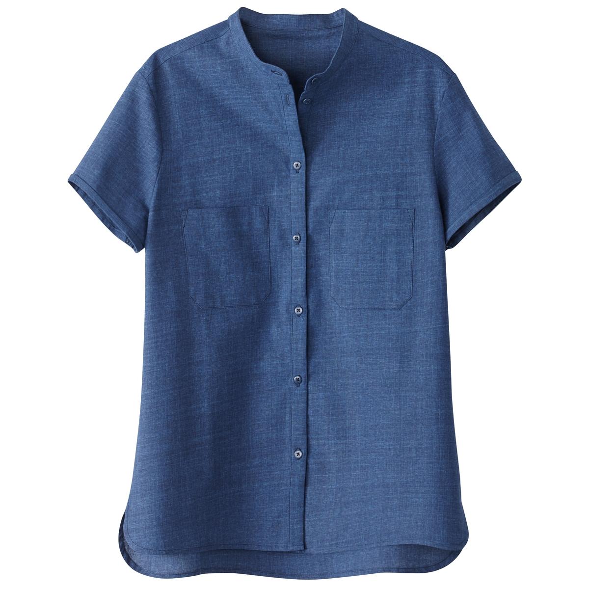 Camisa de manga corta, denim ligero