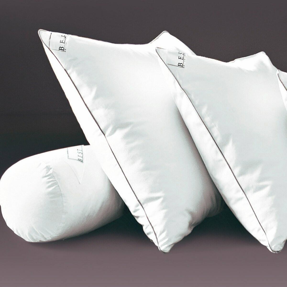 Фото - Подушка LaRedoute Мягкая из вязкоэластичной пены с пропиткой proneem 40 x 60 см белый подушка laredoute жесткая из латекса с пропиткой proneem 50 x 70 см белый