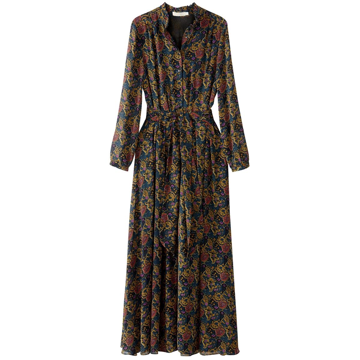 Платье до колен с длинными рукавами цена 2016