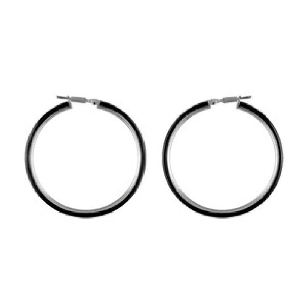 Boucles d'oreilles Créoles 40 mm Fil 3 mm Acier