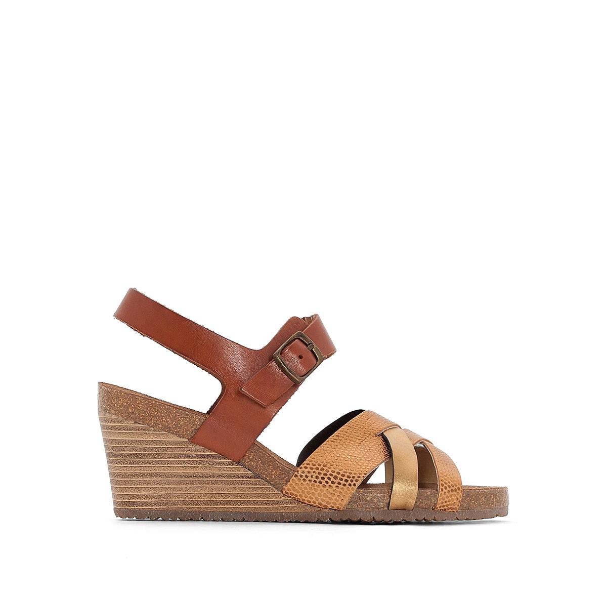 Sandálias de cunha, em pele, SPICY